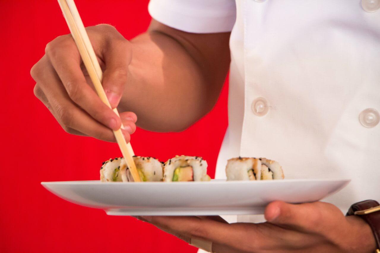 Romantyczna kolacja w sushibarze